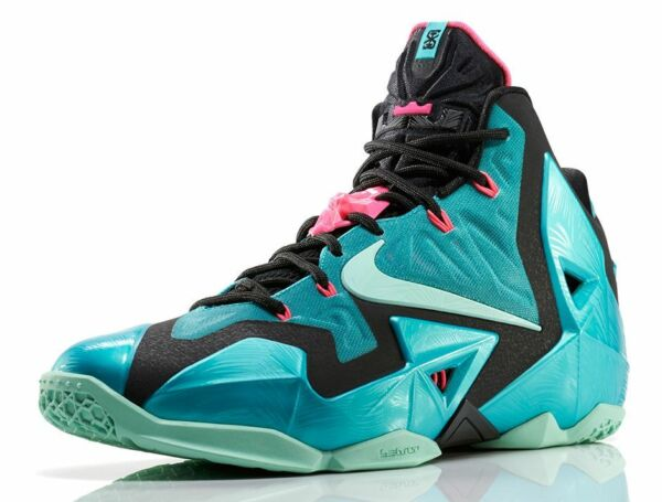 DS Nike LeBron XI 11 South Beach size 13. 616175-330. Turquoise Mint. 12 ext low