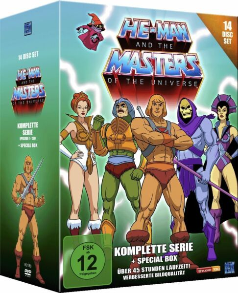 He-Man and the Masters of the Universe-Komplette Serie 14 DVDs Special Box NEU