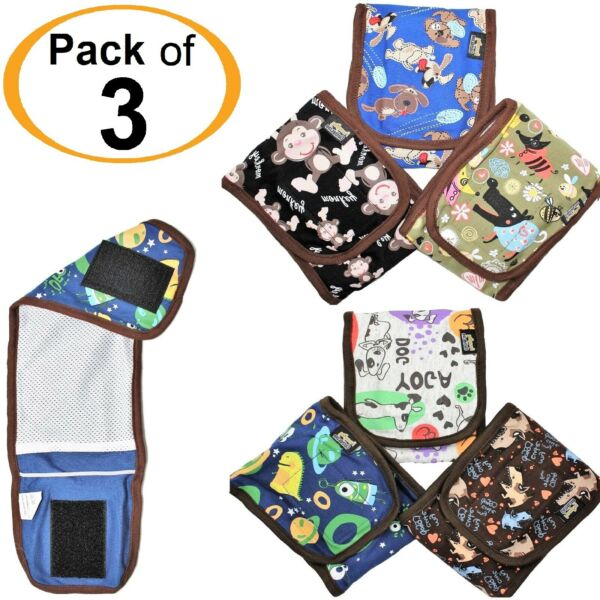 3pcs SET Puppy Dog BELLY BAND Wrap Diapers For MALE Boy Reusable Washable $13.99