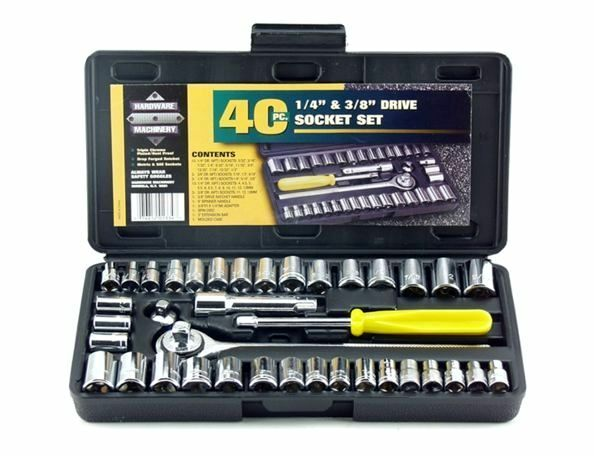 Car Drive Kit Set Hand Tools In Compact Box 40 Home Tool Piece Cheap Man Gift