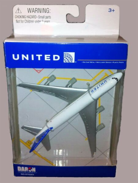 DARON REALTOY RT6264 United Airlines Boeing 747 Reg# N175UA 1475 Diecast. New