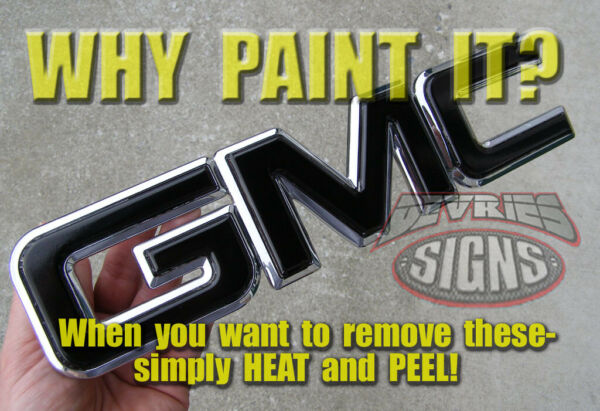 GMC SIERRA *PRECUT* (NO trimming) domed (gel coated) & non-domed emblem overlays