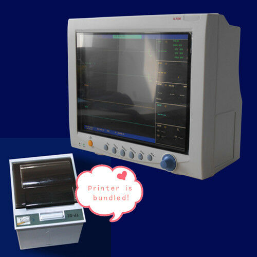Contec CMS7000 Multi-Parameter ICU Vital Signs Patient Monitor + Thermal Printer