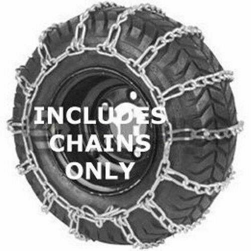 Set of 2 Snow Tire Chains 2 Link 15x6.00x6