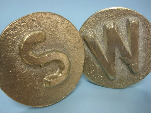 Brass Concrete Utility Markers Water Sewer Gas Residential Curbs $14.50