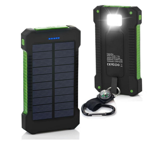 POWERNEWS 900000mAh USB Portable Solar Battery Charger Solar Power Bank Phone KG