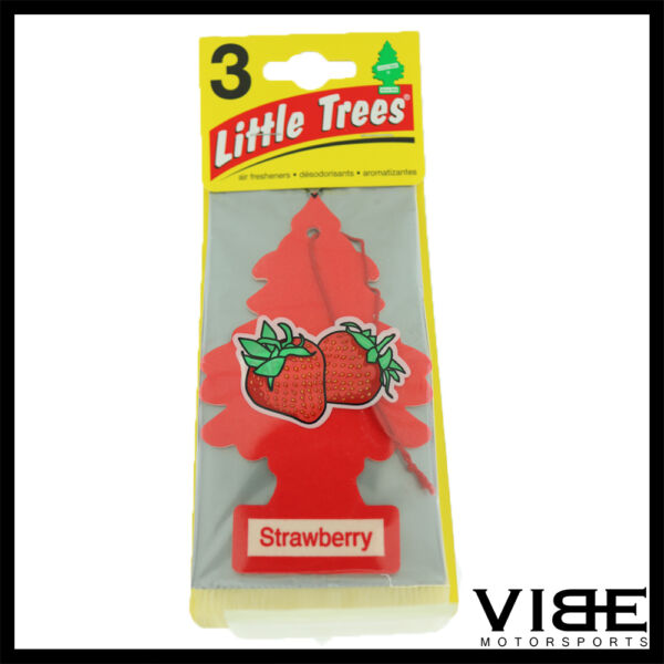 Little Trees Car Home Office Hanging Air Freshener Strawberry (Pack of 3)