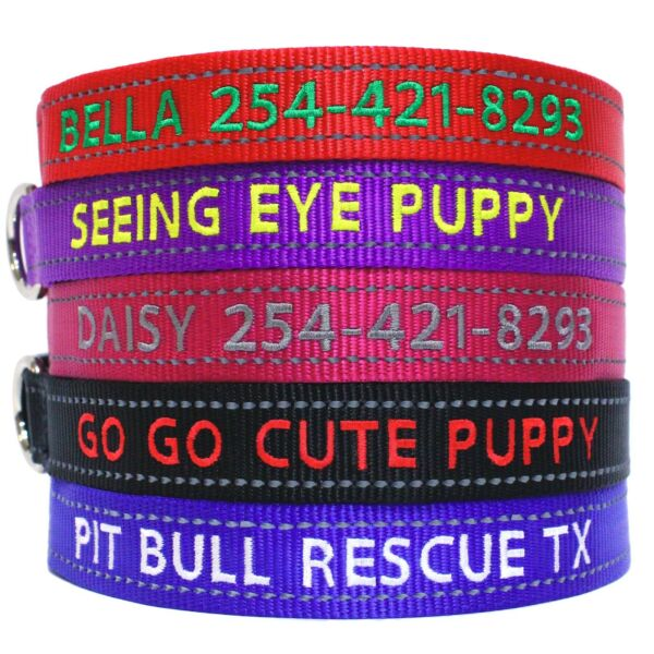 Reflective Personalized Dog Collar $12.99