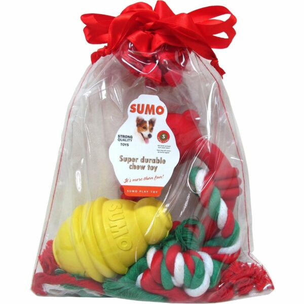 New Sumo Pet Toy Dog Gift Set for Small Dogs $13.88
