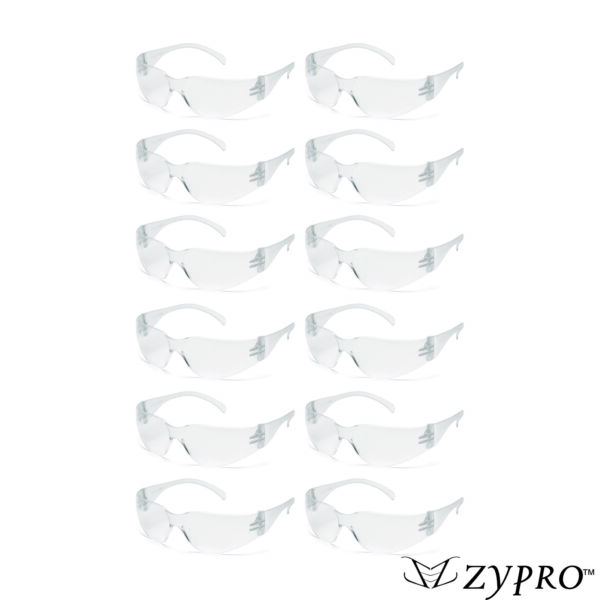 Safety Glasses Clear Lens  Eyewear Work Sports 12 PAIR PACK