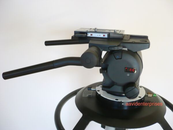 Demo Vinten Vector 430 fluid head flat base mount Quickfit SachtlerO'Connor