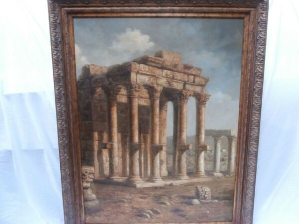 GIANT WIDE VERTICAL ARCHITECTURAL RUINS MASTERPIECE FOCAL POINT 2 OF 2 THAT PAIR