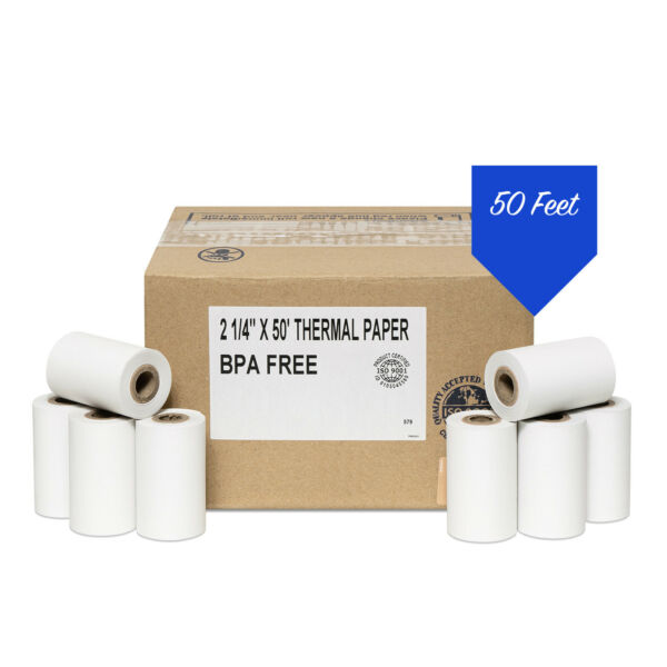2 1 4quot; x 50#x27; Thermal Paper 100 Rolls First Data FD400 Credit Card Terminal $44.99
