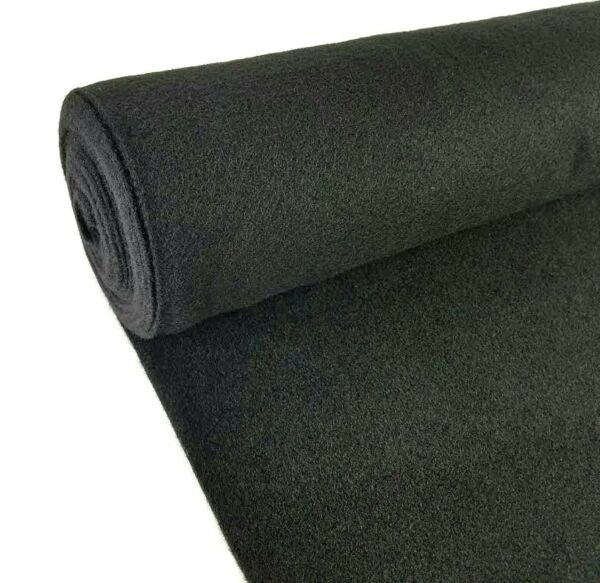 5 Yards Black Upholstery Durable Un-Backed Automotive Trim Carpet 40