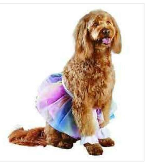 Dog RAINBOW TUTU Halloween Costume L XL Large X Large` NEW $15.00