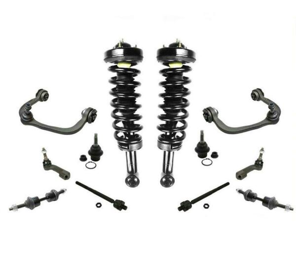 07-12 Expedition Front Coil Spring Struts Tie Rods Low Ball Joints Sway Bar 12Pc