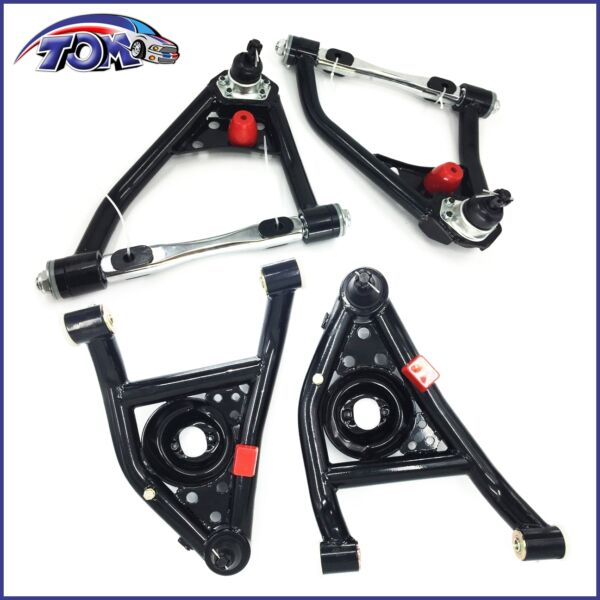 New Front Tubular Upper & Lower Control Arms For Chevy Oldsmobile Pontiac Buick
