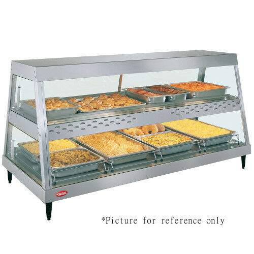 Hatco GRHDH-4PD Dual Countertop Heated Display Case with 6 qt. Humidity Capacity