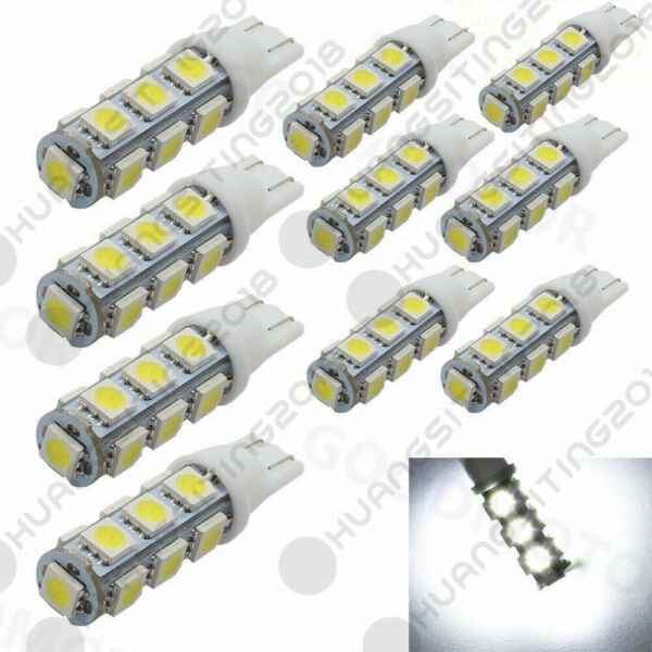 10 pcs T10 Wedge 1.2W Bulb pure white LED for Malibu 12V DC Landscape Light