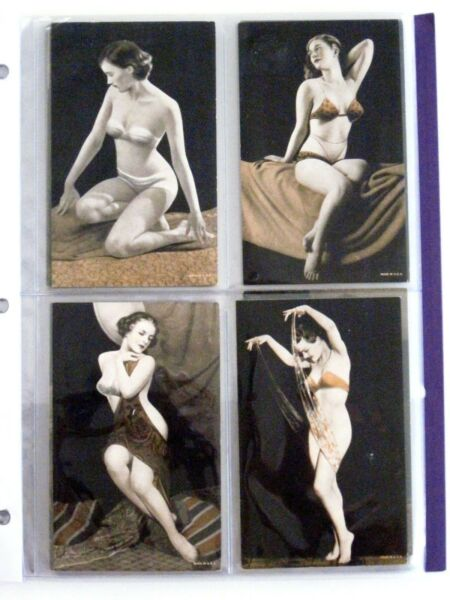 Provocative  (32) 1920's-30's Mutoscopes Pin-Up Arcade Cards In Album *