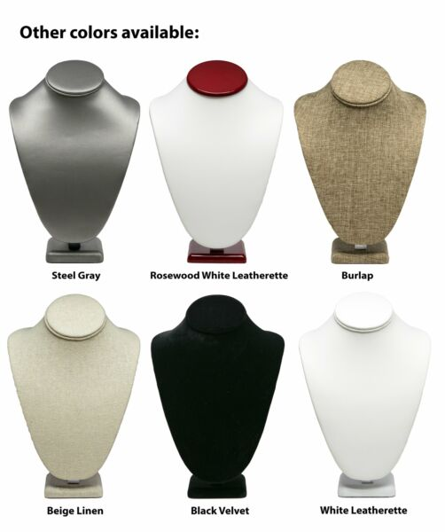 Novel Box™ Necklace Jewelry Display Bust Stand in Various Colors Sizes