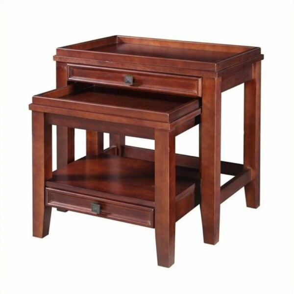 Bowery Hill 2 Piece Nesting Table Set in Cherry