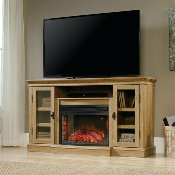 Pemberly Row Curved Fireplace Insert in Black