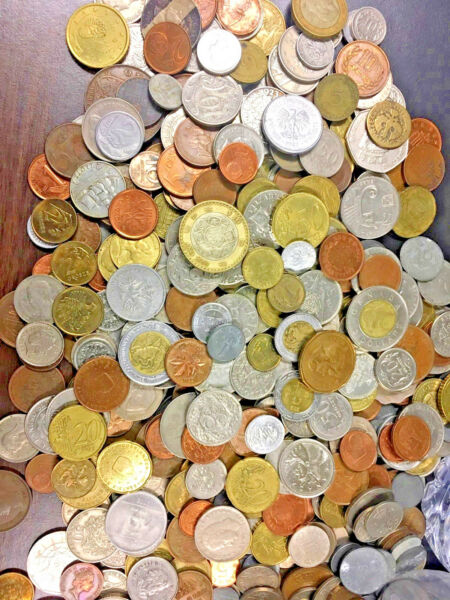 50 FOREIGN WORLD COINS No Duplicates in each Lots + 6 world Bank Notes *: