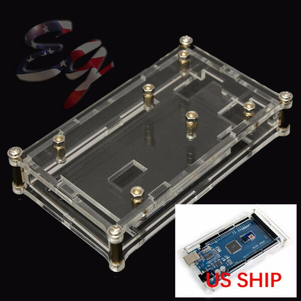 Acrylic Box Enclosure Transparent Case for Arduino MEGA2560 UNO US SHIP