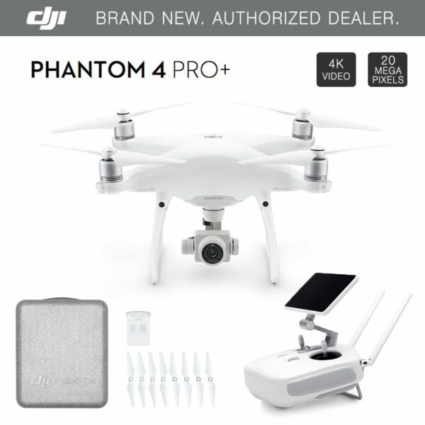 DJI Phantom 4 PRO+ PLUS Drone 4k w/ Gimbal Camera 1080p 20MP + 5.5