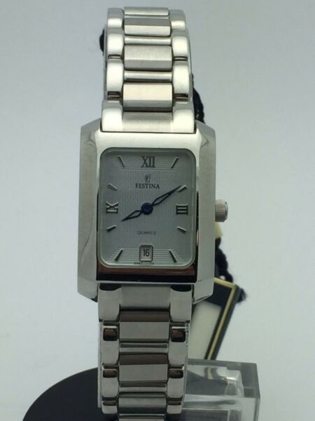 Festina Ladies Silver Dial Stainless Date 50M Registered Model Watch 88872