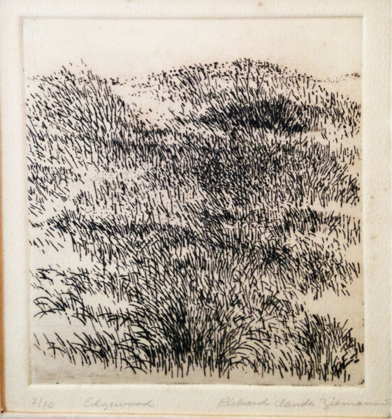 quot;Edgewoodquot; numbered 2 10 etching by Richard Claude Ziemann