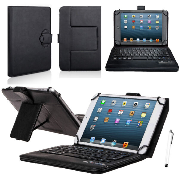 Wireless Bluetooth Keyboard with PU Leather Stand Cover Case For 7