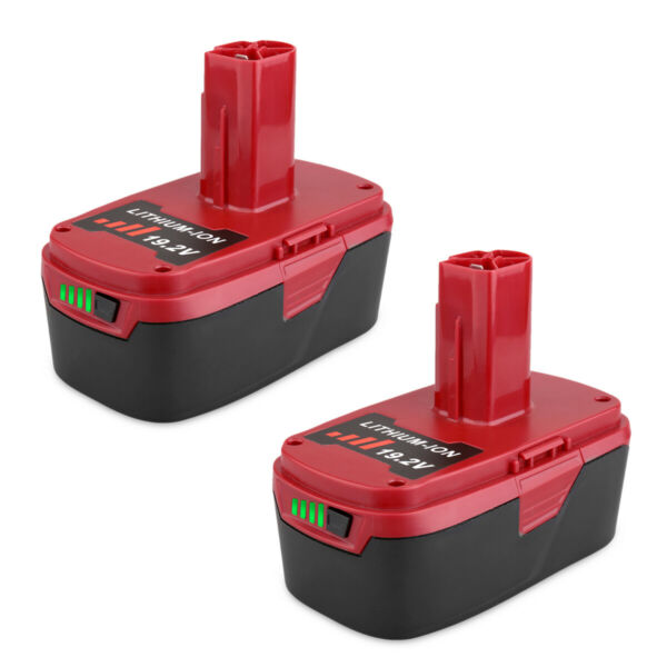 2 Pack 19.2V 5.0Ah Li-Ion Replacement Battery for Craftsman C3 130211004 11375
