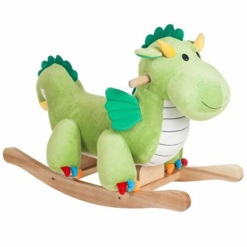 Rocking Dragon Ride Soft Plush Baby Toddler Infant Boy Girl Classic Bedroom Toy
