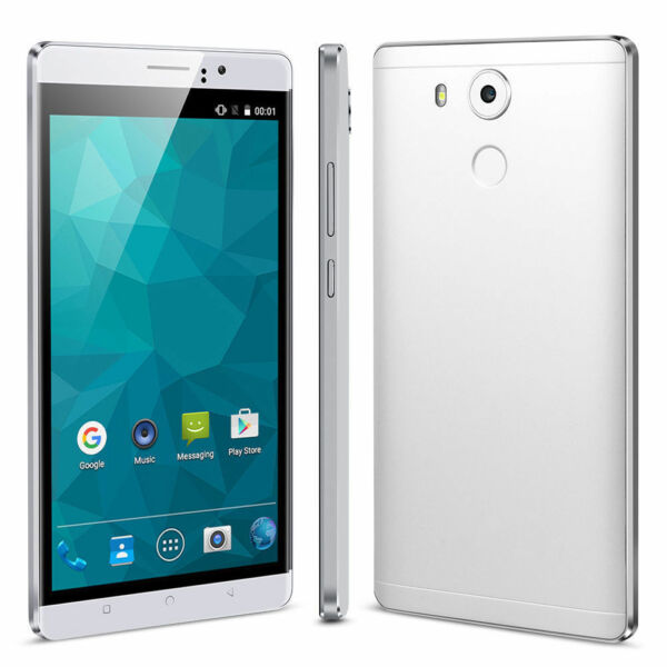 6 Inch Unlocked Android 5.1 Quad Core Two SIM Cell Smart Phone 3G GSM 4GB WHITE