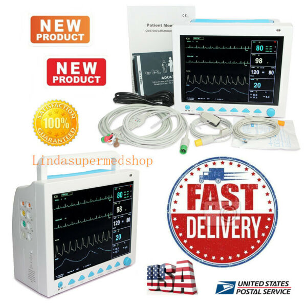 CONTEC FDA&CE ICU CCU Vital Signs Patient Monitor6 Parameters CMS8000 Newest US