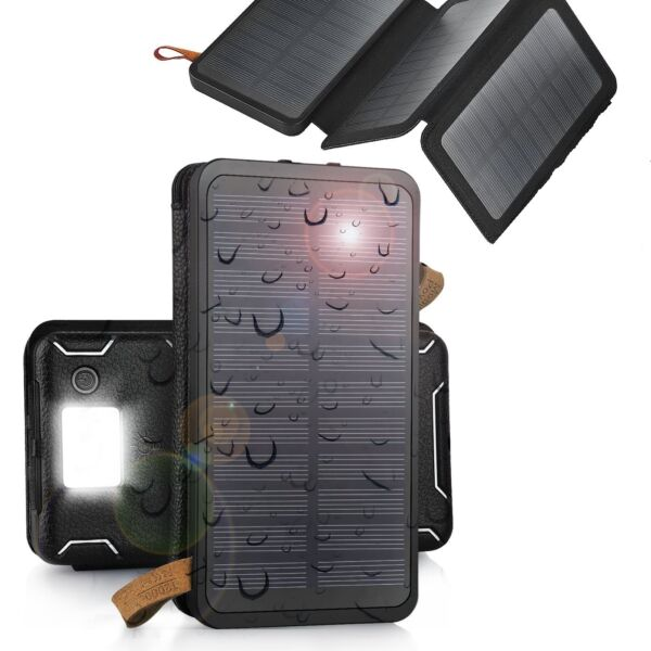 900000mAh Solar Panel External Battery Charger Power Bank For Cell Phone Tablets