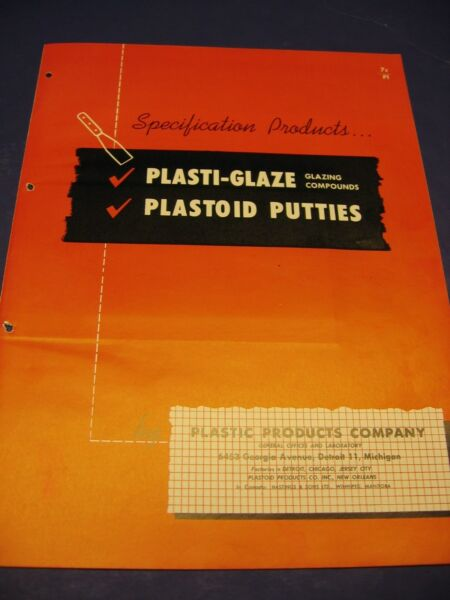 Plastic Products Co. 1950's Catalog Asbestos Furnace Cement Vintage