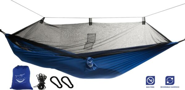 Mosquito Net Hammock Extra Strong Ripstop Nylon Camping Hammock Reversible $34.95