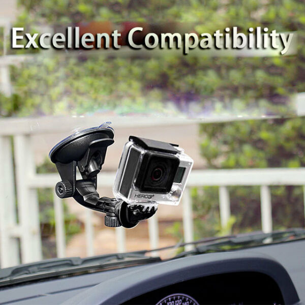 Car Window Windshield Glass Suction Cup Mount Holder Fit for GoPro Hero 4 3 2