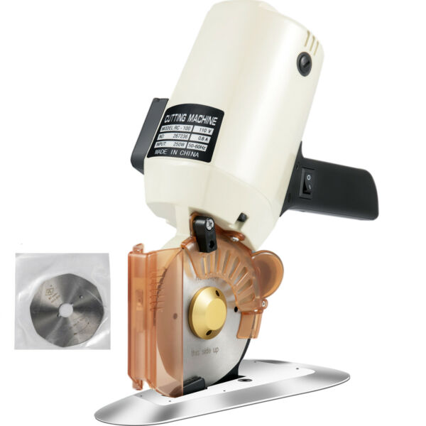 4quot; Electric Cloth Cutter Cutting Machine Rotary Blade 100mm Fabric Octa Round $54.99