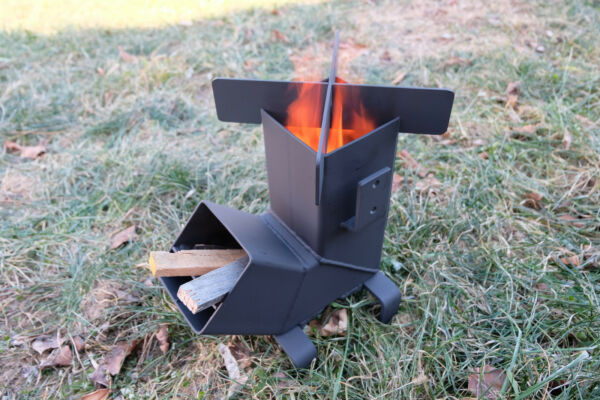 Rocket Stove with *Removable top and Self Feeding* Camping Stove Wood Stove