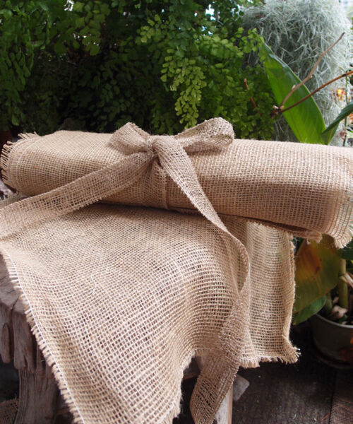 FancySupply 12 Pack Burlap Napkins Placemats 16quot;x16quot; Square Fringe Table sheets