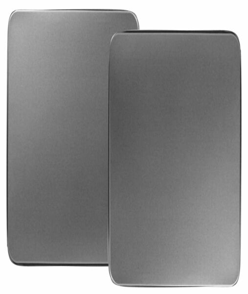 SET OF 2 STAINLESS STEEL RECTANGULAR STOVE BURNER COVERS GAS TOP KITCHEN DECOR