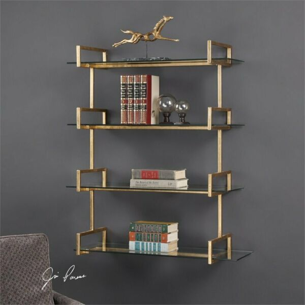 Uttermost Auley Wall Shelf in Gold