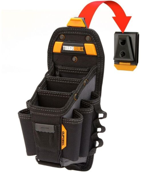Large Contractor Electrician Tool Pouch Belt Clip Work Tools Storage Hub Pouch