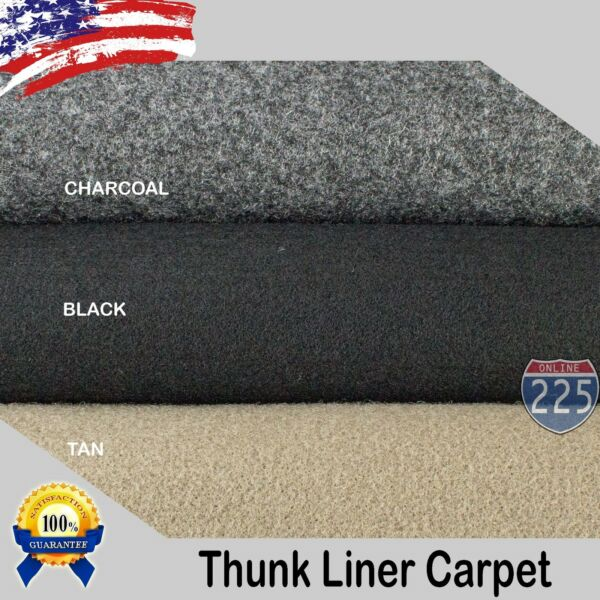 Black Charcoal Tan Un Backed Automotive Trunk Liner Carpet 54quot; Wide By the Yard