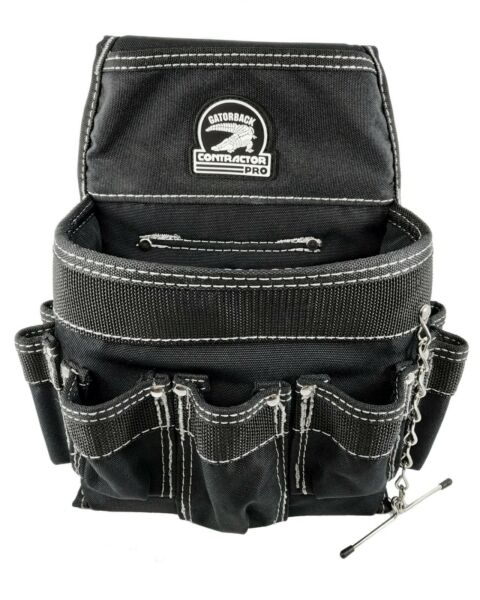 Gatorback B201 Electricians Pouch Tool Belt Ready w/ 18 Pockets and Tape Chain