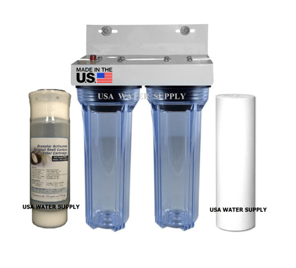 Whole House 2 Stage Sediment Rust CTO w AP110 amp; AP117 Comparable Filters 3 4quot;